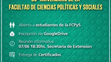 Se abre la convocatoria voluntaria para el festejo del 50º aniversario de la FCPyS