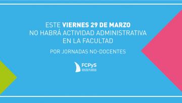 Jornadas no docentes en la FCPyS