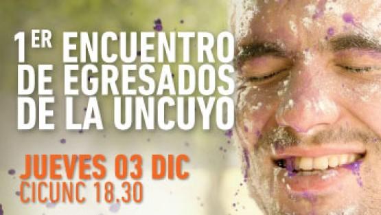 Inscribite al primer encuentro de egresados de la UNCuyo
