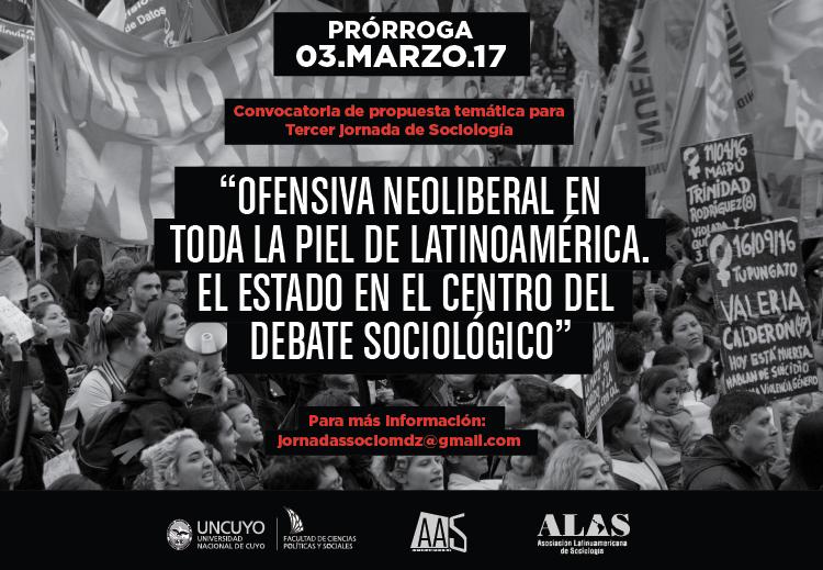 Se prorroga hasta el viernes 03 de marzo de 2017 la presentación resúmenes para las Terceras Jornadas de Sociología