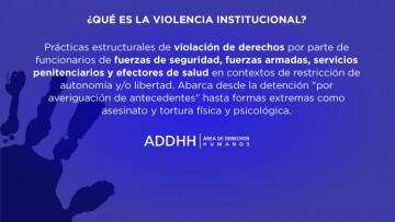 Cómo proceder ante casos de Violencia Institucional