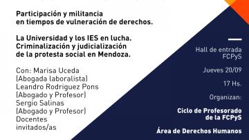 """Conversatorio sobre """"Criminalización y judicialización de la protesta social"""""""