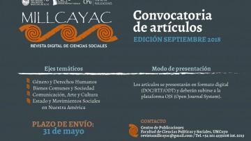 Nueva convocatoria de artículos para Revista Millcayac
