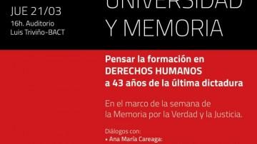 Pensar la formación en derechos humanos a 43 años de la última dictadura