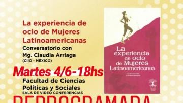 """Presentación del Libro:"""" Experiencias de Ocio de Mujeres Latinoamericanas"""" Mgter. Claudia Arriaga"""