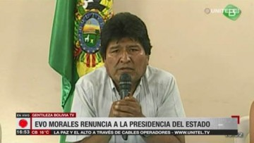 Condena al golpe en Bolivia