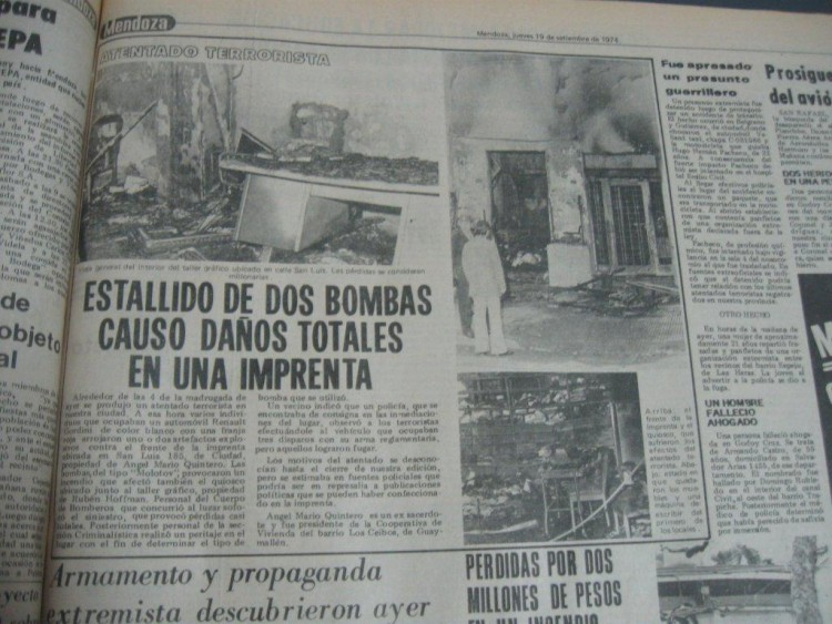 Dictarán un curso sobre la represión en Mendoza