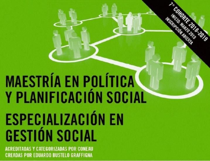 Maestría en Política y Planificación Social (Inscripción Abierta)