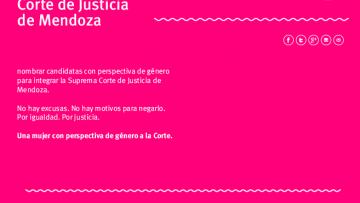 """Una mujer con perspectiva de género a la Corte Suprema de Justicia"", la FCPyS se suma al reclamo"