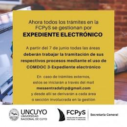 Ahora todos los trámites en la FCPyS se gestionan por expediente electrónico