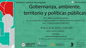 Seminario optativo: Gobernanza, ambiente, territorio y políticas públicas