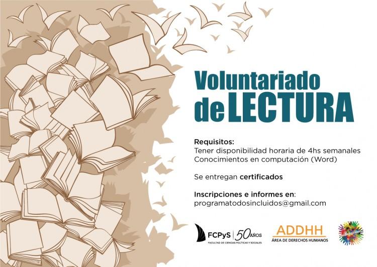 Se encuentra abierta la convocatoria para sumarse al Voluntariado de Lectura